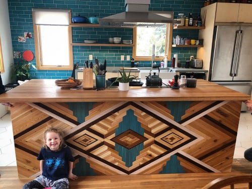 Art & Wall Decor by Sarah Sawdust seen at Private Residence, Boise - Woodwork