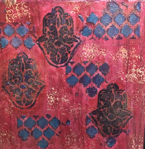 Paintings by Andrea Lamarsaude seen at Private Residence, Dallas - Moroccan Memories