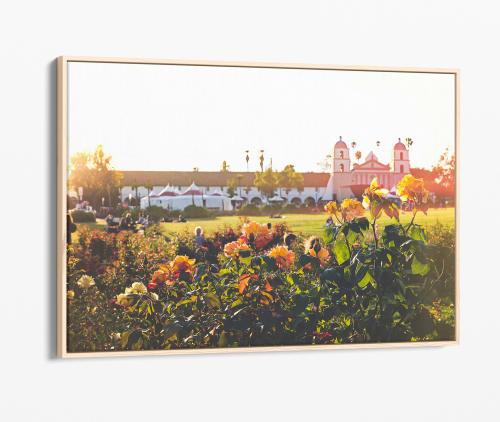 Photography by Kara Suhey Print Shop seen at Creator's Studio, Santa Barbara - Santa Barbara Mission Rose Garden