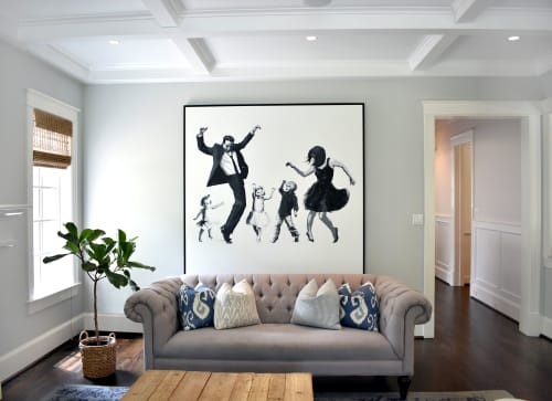 Paintings by Nicolette Atelier seen at Private Residence - Modern Family Portrait
