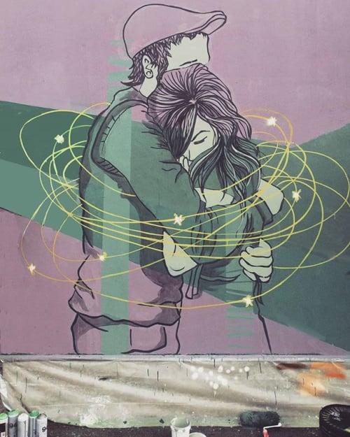 Street Murals by Stefania Gallina - MAPU Lab seen at Turin, Turin - The box - Super quick personal mural
