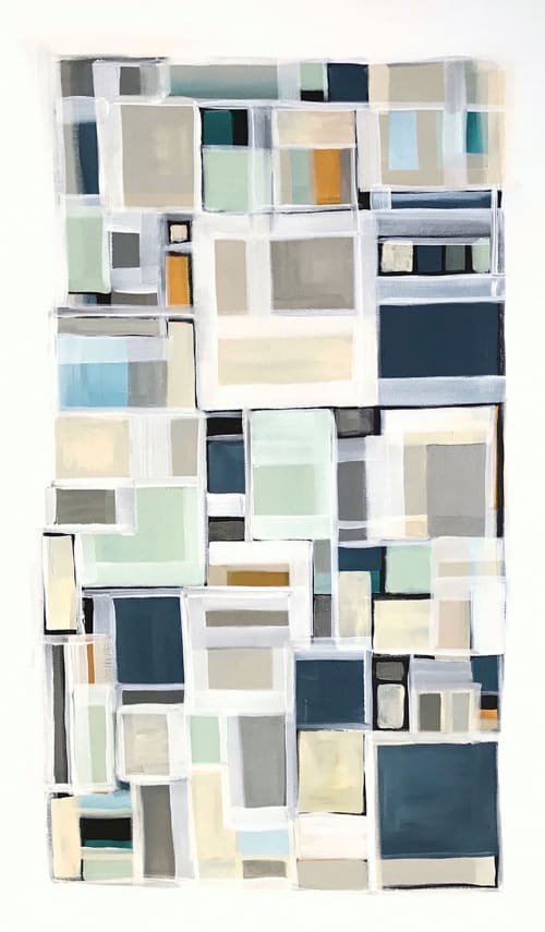 Paintings by Linnea Heide contemporary fine art seen at Private Residence, Los Angeles - 'ViETRi' original abstract painting by Linnea Heide
