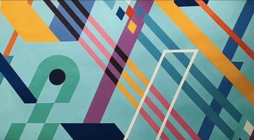 Los Angeles, CA | Murals by Teddy Kelly | Mestizo Cafe in Los Angeles