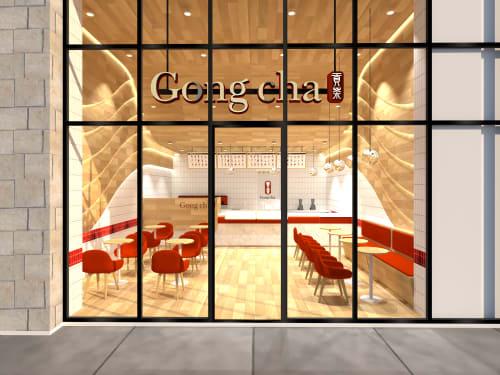 Interior Design by Studio Hiyaku seen at Gong Cha Canberra CBD, Braddon - Gongcha Founders Lane