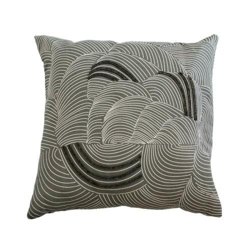 Pillows by Jill Malek Wallpaper - Cocoon Pillow   Coal