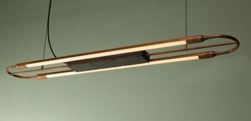 Lighting by Blom & Blom seen at Livingreen Design, Loanhead - Copperhead