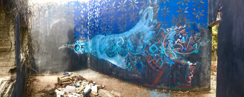 Murals by Max Kauffman seen at Private Residence, Mexico City - Mexico City mural