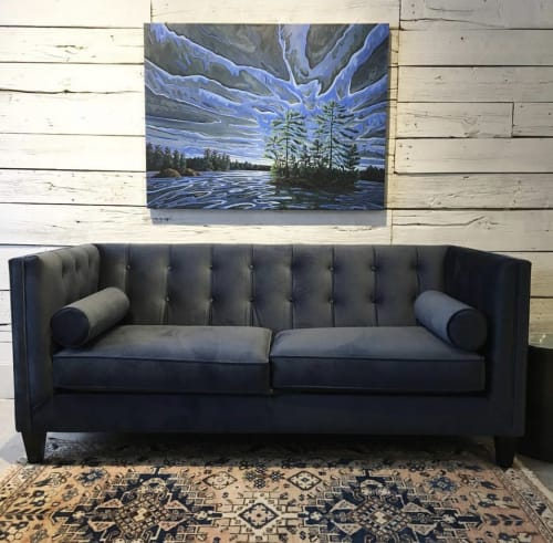 Paintings by Jenny Kastner seen at Stony Lake Furniture Co, Lakefield - August Thunder