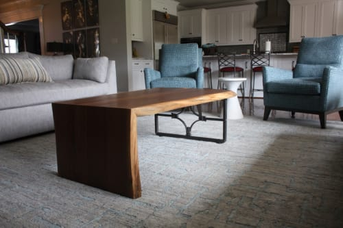Tables by Alicia Dietz Studios seen at Private Residence, Richmond - Live Edge Waterfall Coffee Table