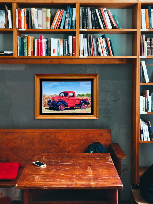 Paintings by Melissa Patel seen at Private Residence, Toronto - Red Truck - oil painting