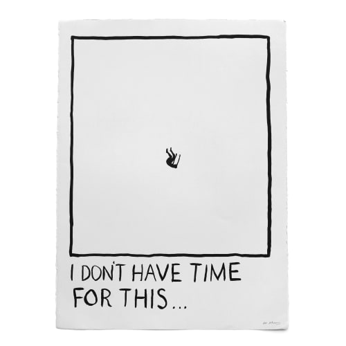"Paintings by RF. Alvarez seen at Private Residence, Los Angeles - ""I Don't Have Time For This…"""
