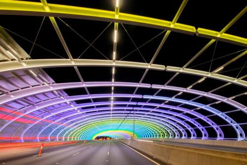 Lighting Design by Electrolight seen at Citylink Sound Tube, Flemington - Sound Tube