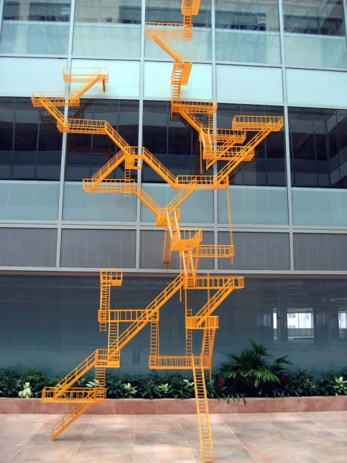 Sculptures by Amuneal seen at Clarion Partners, Washington - Second Means of Egress installation