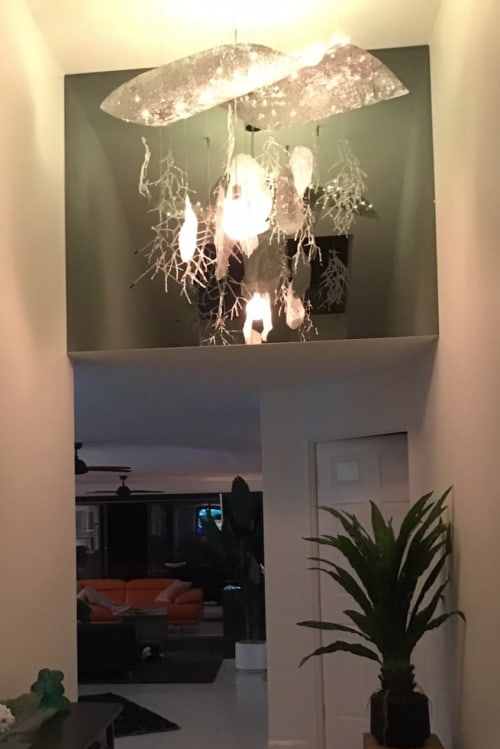 Chandeliers by GlassXpressions - Lisa de Boer seen at Private Residence, Surfers Paradise - Custom made glass art chandeliers