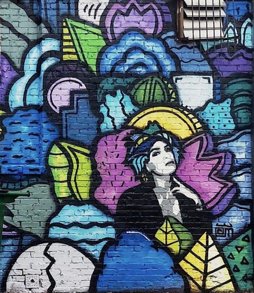 Street Murals by Alloyius Mcilwaine Art seen at Warehouse on Watts | W.O.W., Philadelphia - Warehouse on Watts (Collaboration)