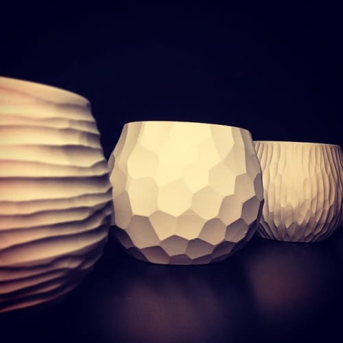 Tableware by Vezzini & Chen seen at Private Residence, Soncino - Ceramic candleholder