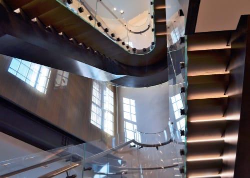 Architecture by Amuneal seen at Bottega Veneta New York Maison, New York - Bottega Veneta Curved Stair