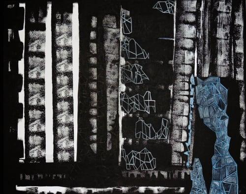 Paintings by Callie Art seen at Brooklyn Studio, Brooklyn - Brutalist Reality , 2016 - 2018