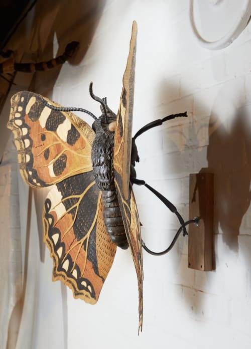 Sculptures by Alex Jones seen at Private Residence - Tortoiseshell Butterfly
