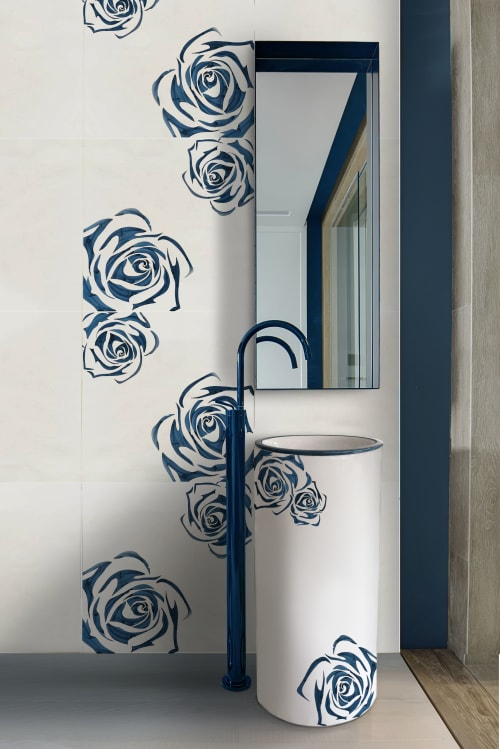 Tiles by Ar.ce.a. srl Handmade design seen at Private Residence, Cava de' Tirreni - koama cm 60x60xh1.2