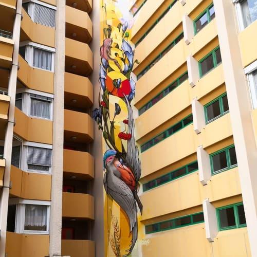 Murals by Jeroo seen at Stuttgart, Stuttgart - Wall Mural