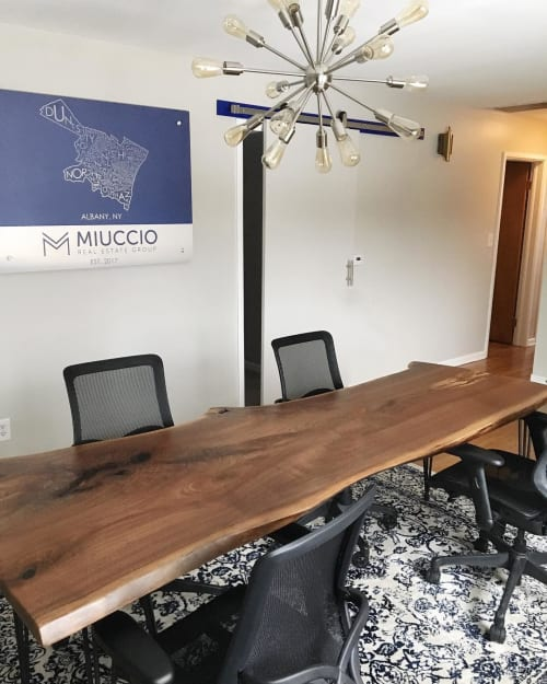 Tables by Slab Supply seen at Miuccio Real Estate Group, Albany - Live Edge Table
