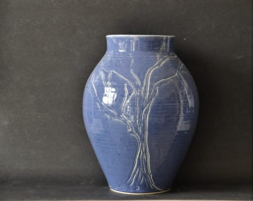 Vases & Vessels by Robin Badger & Robert Chartier seen at Private Residence, West Bolton, West Bolton, Quebec - Tree of Life Ceramic Vase