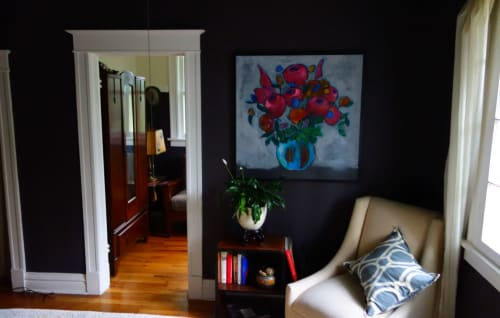 Paintings by Danyl Cook seen at Private Residence, San Francisco - Vintage Floral #5