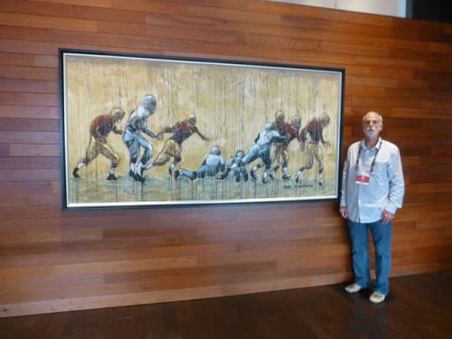 Paintings by An Artist Life seen at 4900 Marie P DeBartolo Way, Santa Clara - NFL Football San Francisco 49er's Owner's Suite Levi Stadium