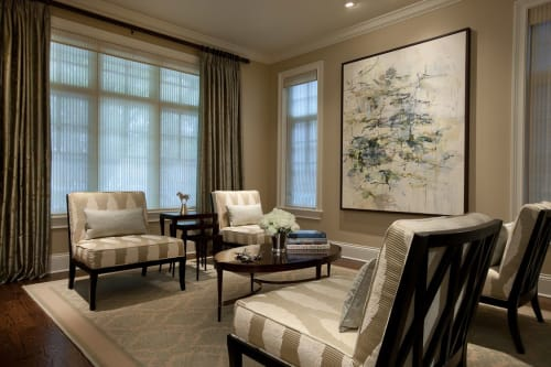 """Paintings by Karl Pilato seen at Private Residence, Chicago - """"River House"""""""