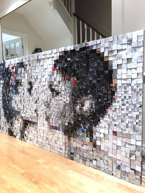 Wall Hangings by Paola Bazz seen at Private Residence, Toronto - Colour Blindness #2 - 3d collage - 8x4 feet