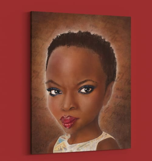 Paintings by Jami Butler seen at Private Residence - Portrait of Danai Gurira
