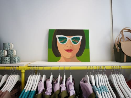 Paintings by Helena Wurzel seen at New York, New York - Kate Spade Saturday