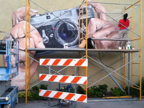Street Murals by Anat Ronen seen at Burns Square, Sarasota - Say Cheese