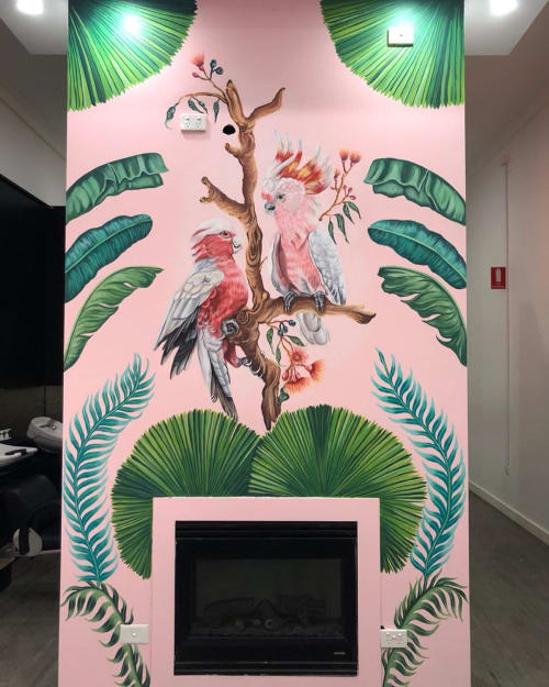 Murals by Ashley McNeil seen at Miss Jay's Nail & Beauty, Thornbury - Tropical Mural