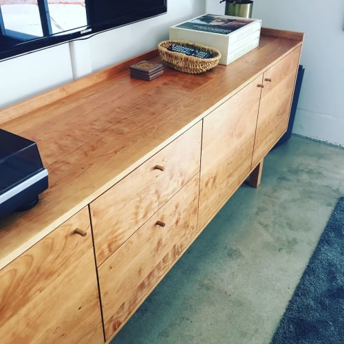 Furniture by Bugbee Wood Co. seen at Private Residence, Long Beach - Cherry Cabinet