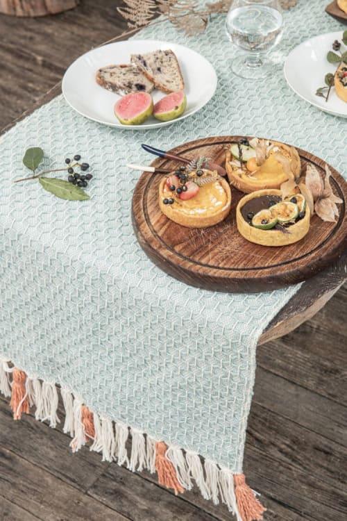 Tableware by Zuahaza by Tatiana - Diamond Naidi Blue Table Runner