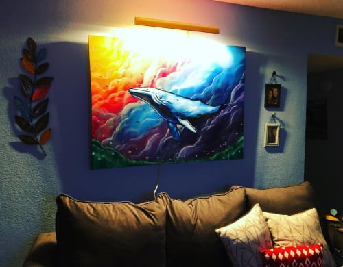 Paintings by Sergio Cornejo seen at Private Residence, Houston - Whale painting