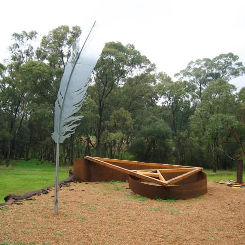 Public Sculptures by Roland John Weight seen at Jamestown, Jamestown - Bundaleer Forest Musical Sculpture
