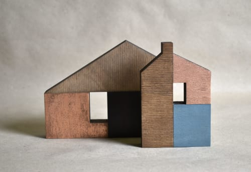 Sculptures by Susan Laughton Artist seen at GALLERY57, Arundel - Little house sculptures