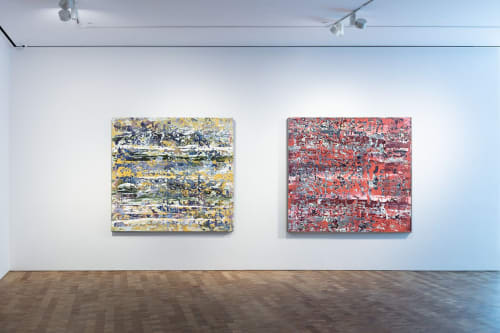 Paintings by DAVID SKILLICORN - American Abstract Painter seen at Private Residence, Miami - Basalt and Salterello