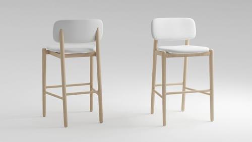 Chairs by MZPA Design seen at SayNoMo social nail bar, Kyiv - Barstool Mild