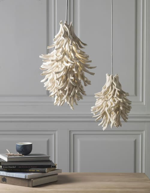 Pendants by Liz Quan Studio seen at Private Residence - Boulder, CO, Boulder - White Coral