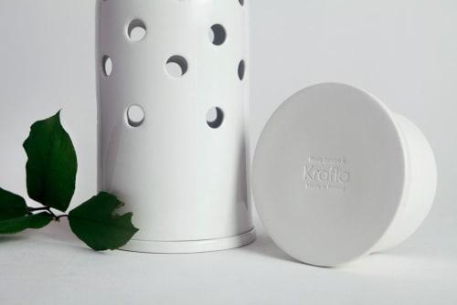 Vases & Vessels by Krafla seen at Krafla Studio, Kraków - Fly's Eye Vase   big / white