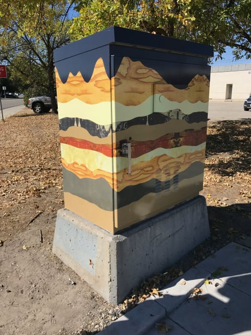 Art & Wall Decor by Lorelle Rau Studios seen at Private Residence, Boise - Boise Traffic Box Wrap
