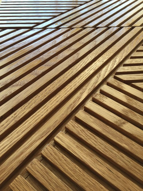 Beds & Accessories by Mark Newton Custom Woodcraft seen at Del Rey Yacht Club, Marina del Rey - Custom Oak headboard