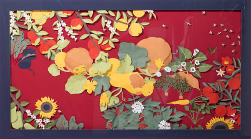 Wall Hangings by Maëlle Doliveux Illustration seen at Seabourn, Seattle - Pollinators: Autumna