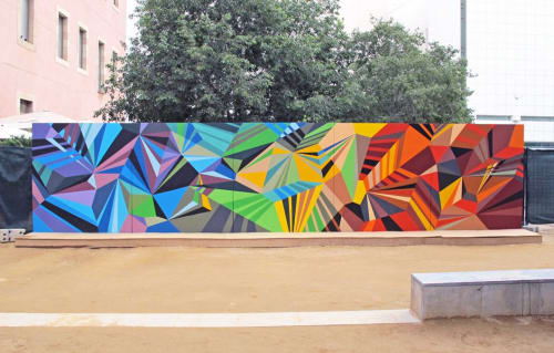 Murals by MATT W. MOORE seen at Barcelona, Barcelona - MWM Diamonds.