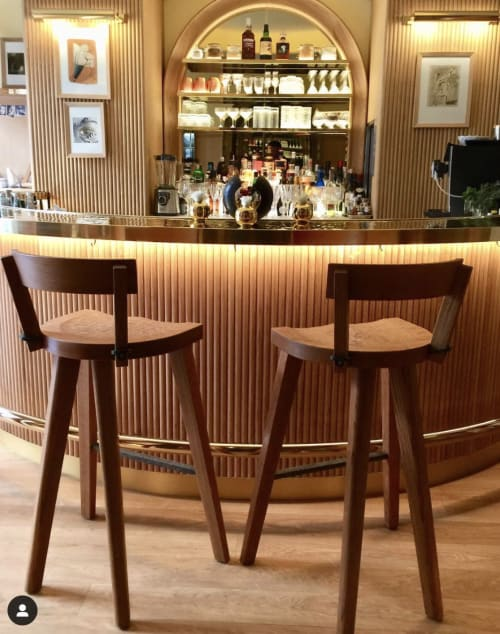 Chairs by Furniture Marolles seen at Hôtel 9Confidentiel, Paris - Marolles Bar Stool