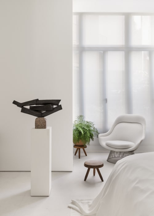 Chairs by Charlotte Perriand seen at Private Residence, Barcelona - Wooden Stool